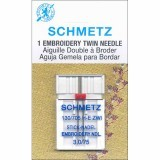 Schmetz Twin Embroidery Needle Size 75/11 3.0mm Gap (Pack 1)