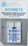 Schmetz Stretch Twin Needle Size 75/11 4.0mm Gap (Pack 1)