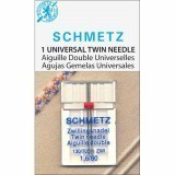 Schmetz Twin Needle Size 80/12 1.6mm Gap (Pack 1)