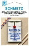 Schmetz Twin Needle Size 80/12 2.0mm Gap (Pack 1)