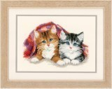 Counted Cross Stitch Kit - Kitten Under Rug