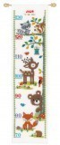 Counted Cross Stitch Height Chart: Forest Animals II