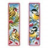 Counted Cross Stitch Bookmark: Birds in Winter: Set of 2