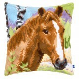 Cross Stitch Cushion Kit: Brown Mare