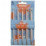 Pony Crochet Hook Set - Double Ended Maple 15cm x 5 pieces