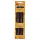 Pony Double Ended Knitting Pins Set of Five Rosewood 20cm x 9mm