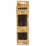 Pony Double Ended Knitting Pins Set of Five Rosewood 20cm x 10mm