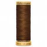Col.1633 Gutermann Cotton 100m Bright Brown