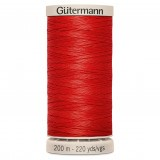 Col.1974 Gutermann Hand Quilt 200m Bright Red