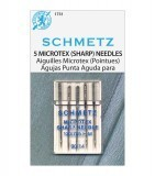 Schmetz Microtex Sewing Machine Needles Size 90/14  - Pack 5