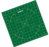 "Quiltlines Rotating Cutting Mat  12 x 12"" - Green"