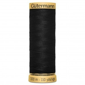 aCol.5201 Gutermann Cotton 100m BLACK