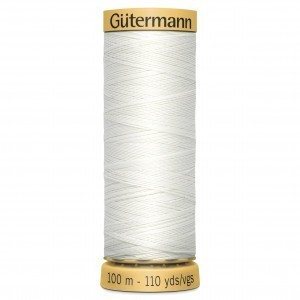 aCol.5709 Gutermann Cotton 100m WHITE