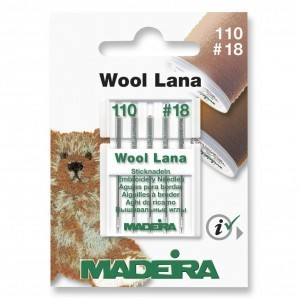 Madeira Sewing Machine Needles - Pack 5 Wool Lana Size 110/18