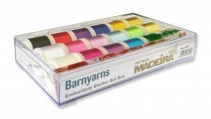 Madeira  Embroidery Starter Set - Barnyarns Exclusive Gift Box Free Topstitch 90 Needle