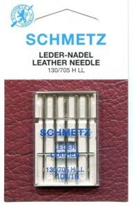 Schmetz Leather Sewing Machine Needles Size 100/16 - Pack 5