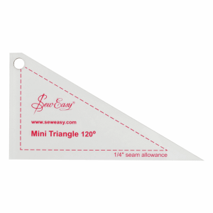 Sew Easy Mini Template Set - 120A Triangle  4.6 x 2.5in