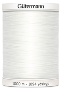Col.800 Gutermann SA 1000m White