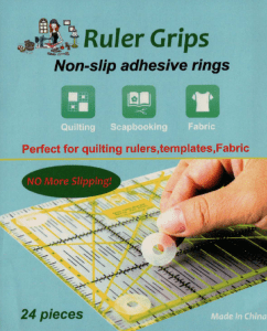 Quiltlines Ruler Grips Non Slip Adhesive Rings Pack 24