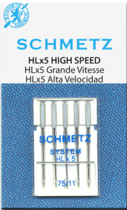 Schmetz HLx5 Size 75/11 (Janome MC1600P and MC1600P-QC)
