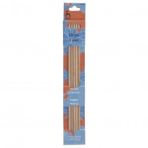 Pony Double Ended Knitting Pins Set of Five Maple 20cm x 4mm