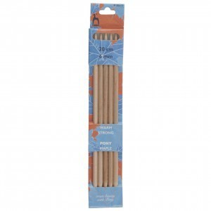 Pony Double Ended Knitting Pins Set of Five Maple 20cm x 6mm