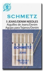 Schmetz Jeans Needle Size 110/18  - Pack 5
