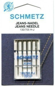 Schmetz Jeans Needle Size 70/10  - Pack 5