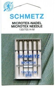 Schmetz Microtex Sewing Machine Needles Size 60/8 - Pack 5
