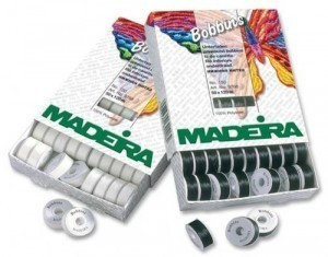 Madeira Prewound Bobbins - White or Black BOX 50 ART.9766