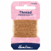 Hemline Glitter Thread 10m - Light Gold
